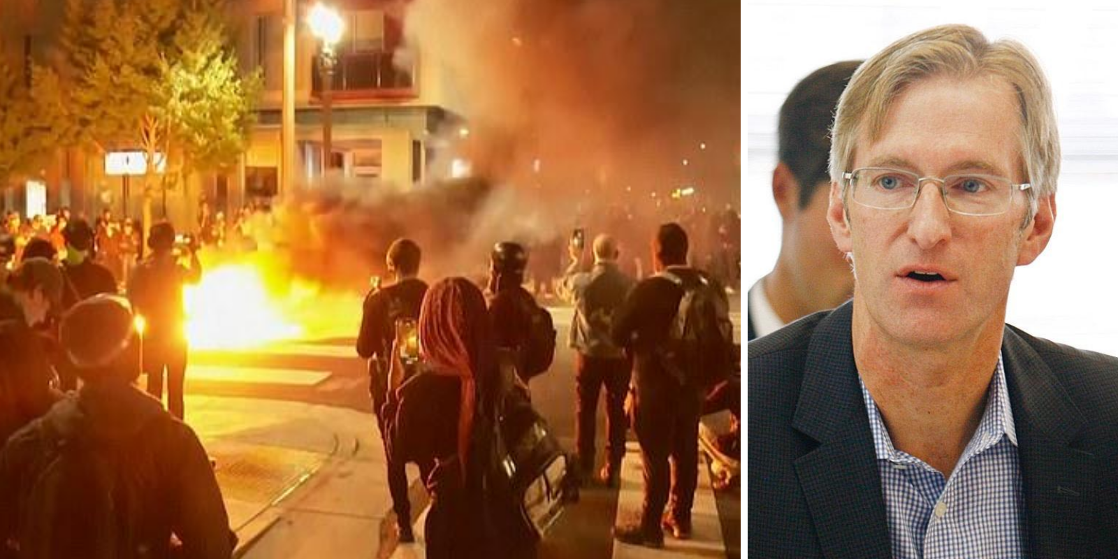 Antifa torches Portland mayor's apartment on his birthday