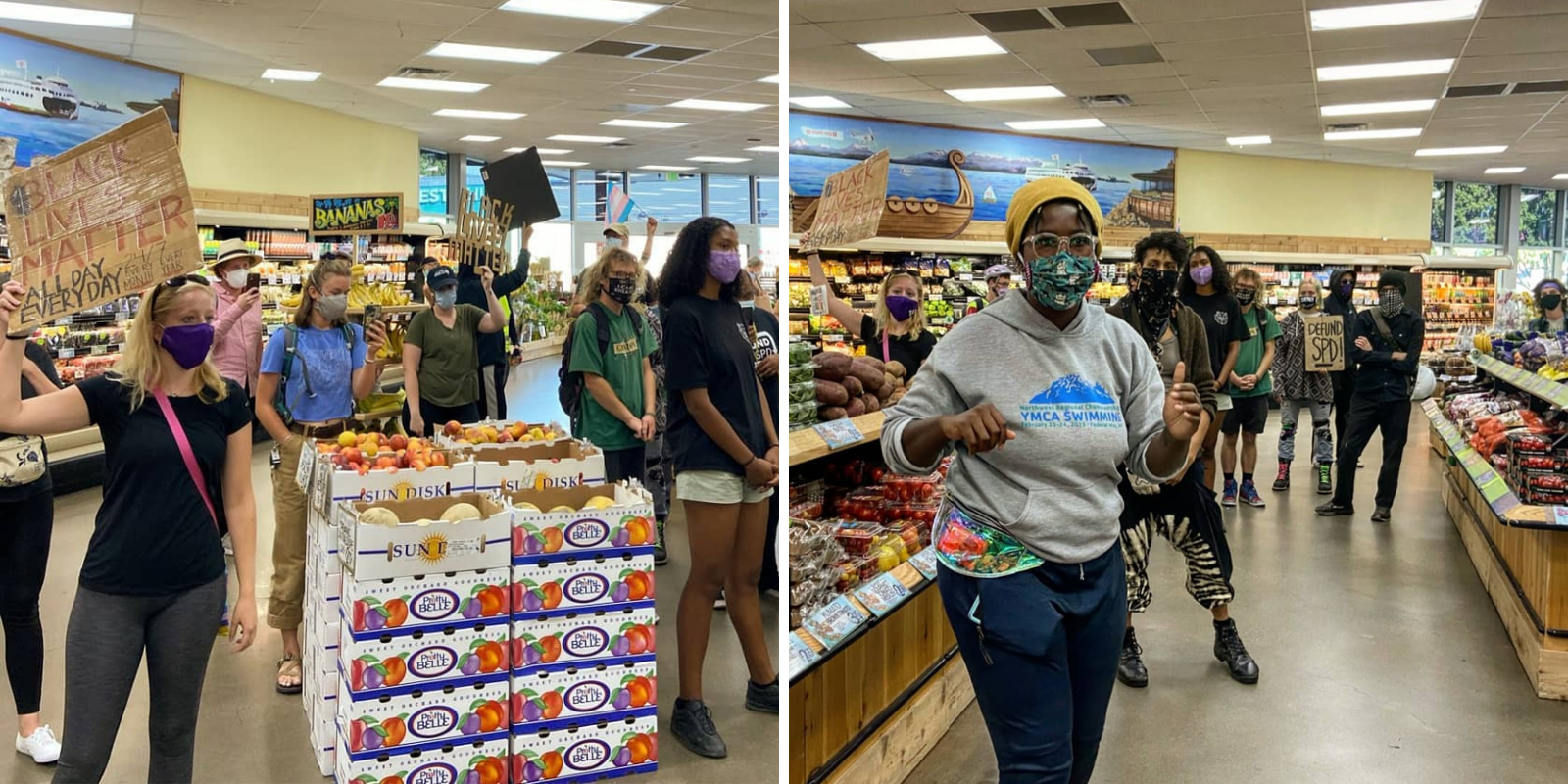 Seattle BLM takes over Trader Joe's, protesting 'lack of access to grocery stores'