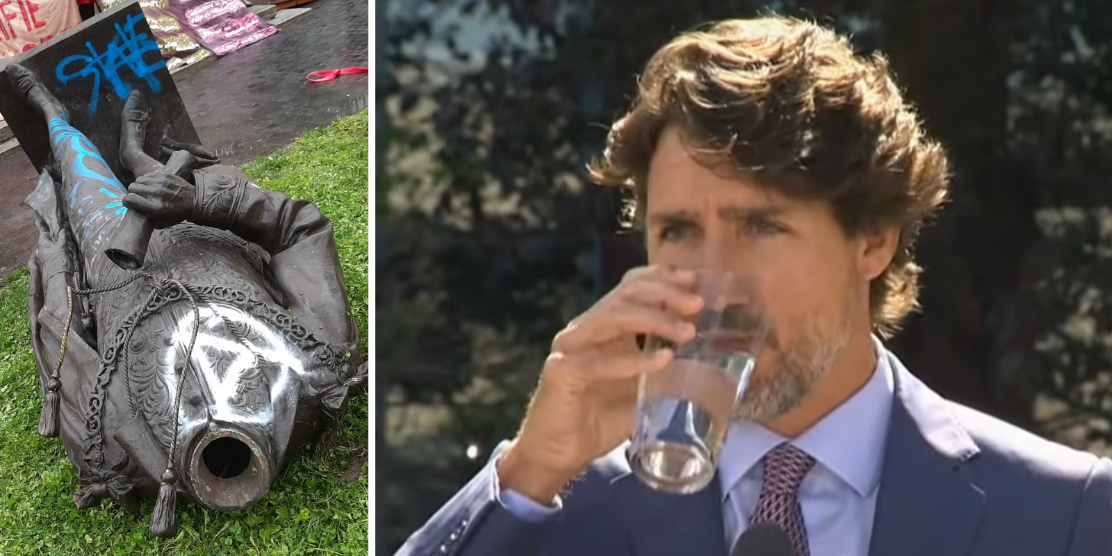 Trudeau blames 'extreme right' for dividing Canadians after John A. Macdonald statue toppled