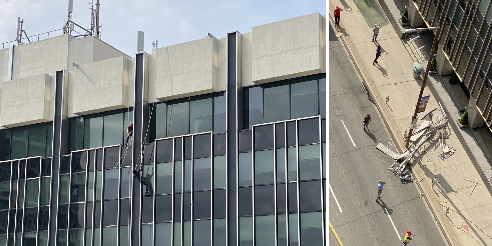 Window cleaners rescued from top floor of Toronto tower after platform collapses 25 stories