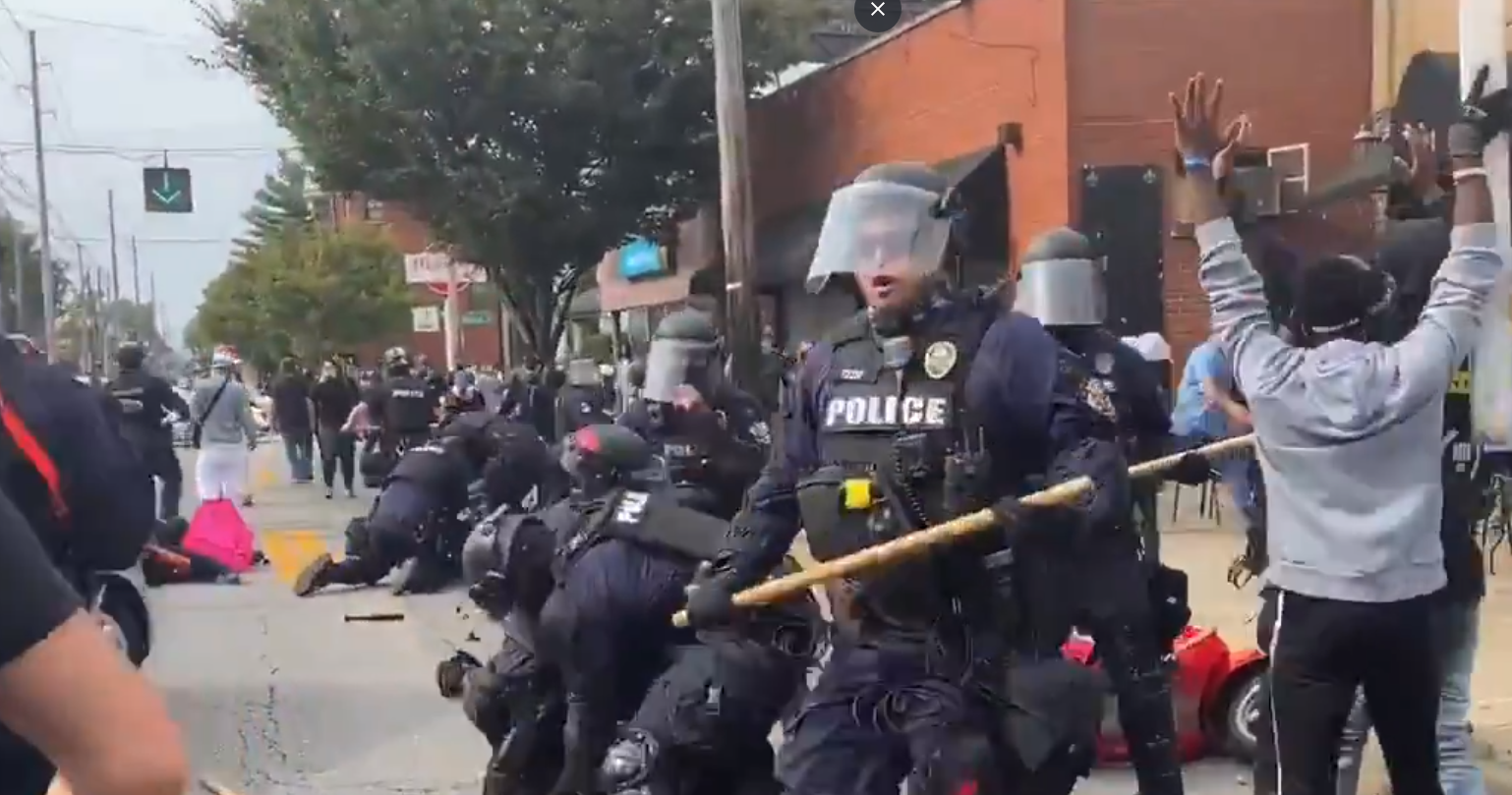 BREAKING: Arrests made in Louisville as rioters wreak havoc, clash with police after Breonna Taylor verdict
