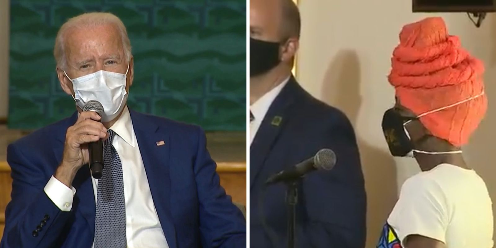 WATCH: Woman at Biden event admits that she was provided with a pre-written question to ask