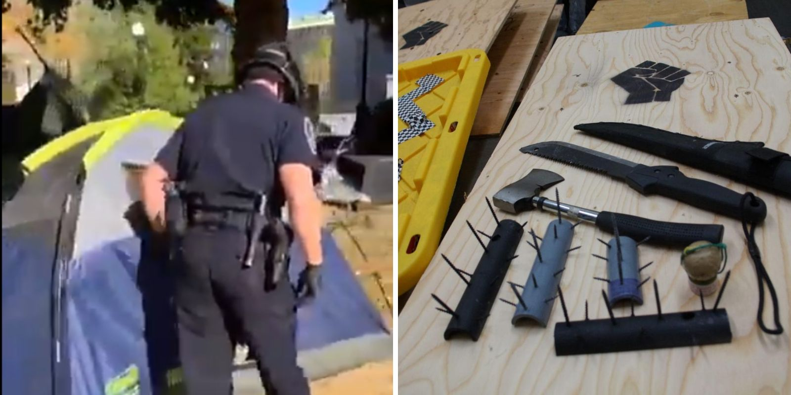 REVEALED: Antifa stored weapons in Seattle occupied park