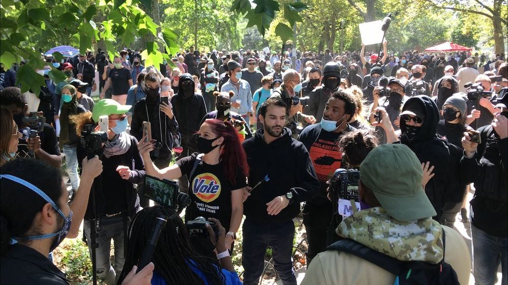 BREAKING: Antifa show up for non-existent 'Proud Boys' rally in Philadelphia—attack media instead