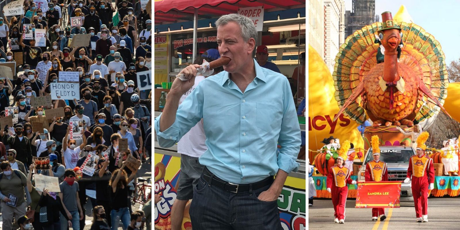 De Blasio announces 'reinvented' Macy's Thanksgiving Day Parade—mass protest can go on as usual