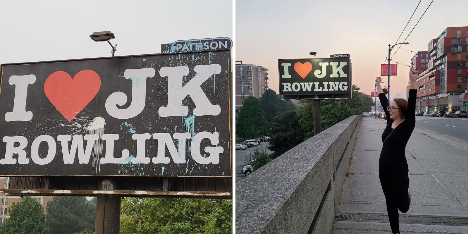 Billboard company to take down tribute to JK Rowling after one complaint of transphobia