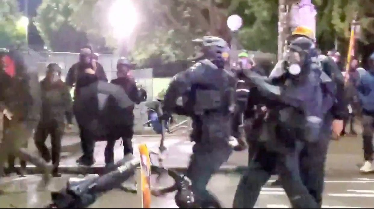 WATCH: Antifa militant tries to murder Seattle police officer with a metal bat to the head