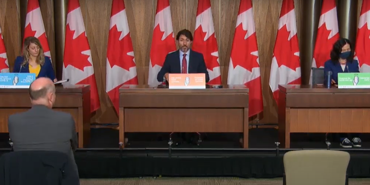 BREAKING: Trudeau announces $600 MILLION for 'Regional Relief and Recovery Fund,' $50 MILLION for women's shelters