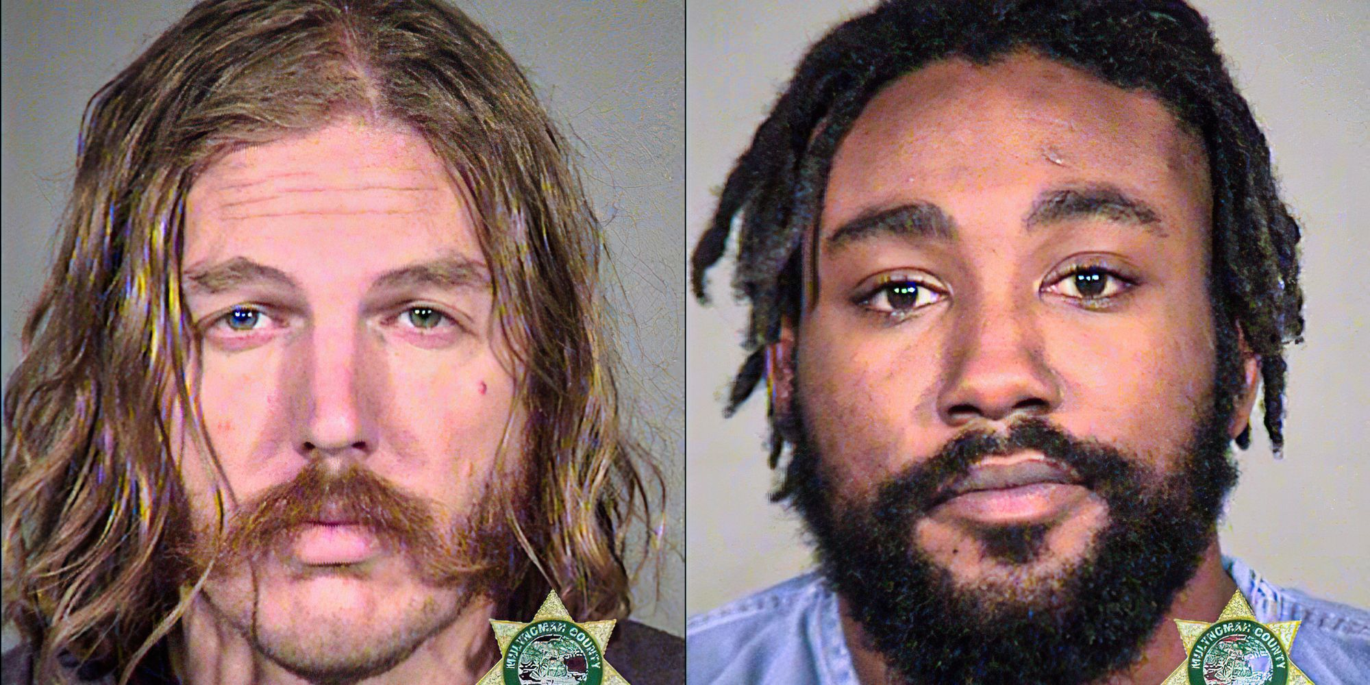 Two charged over statue-toppling riot in Portland