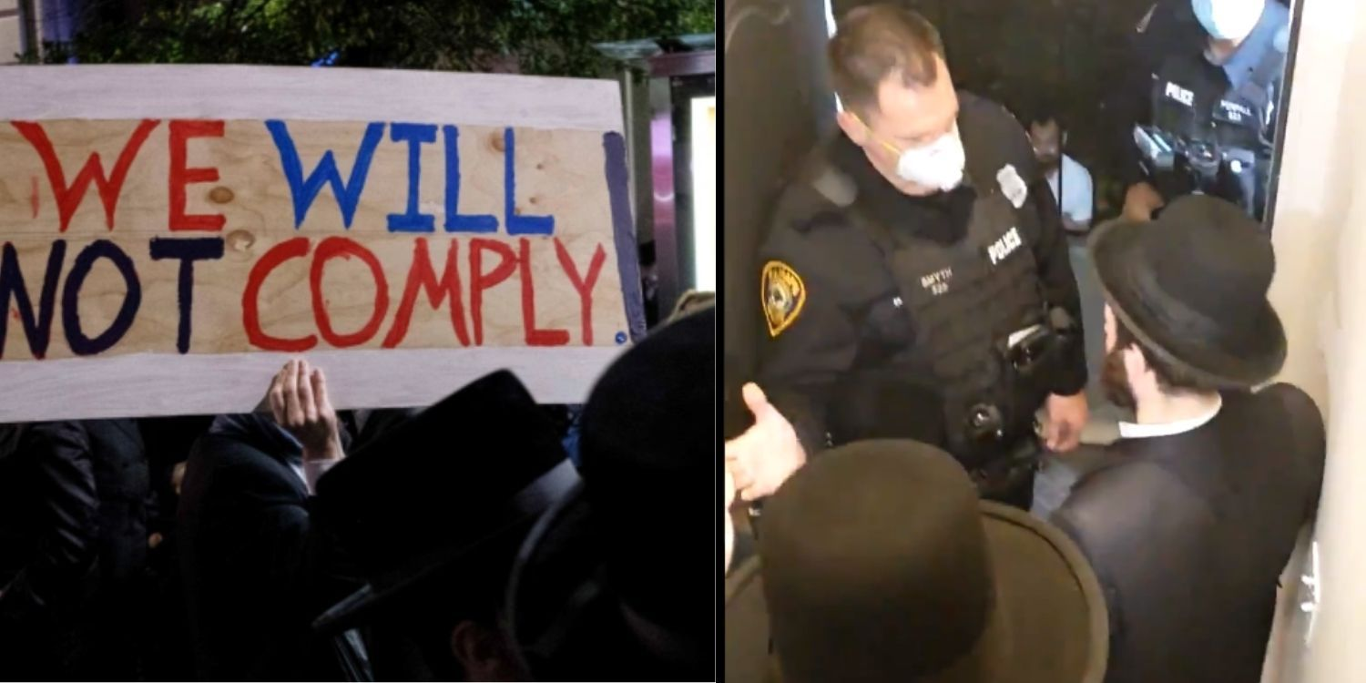 WATCH: NYPD cracks down on Jewish gatherings