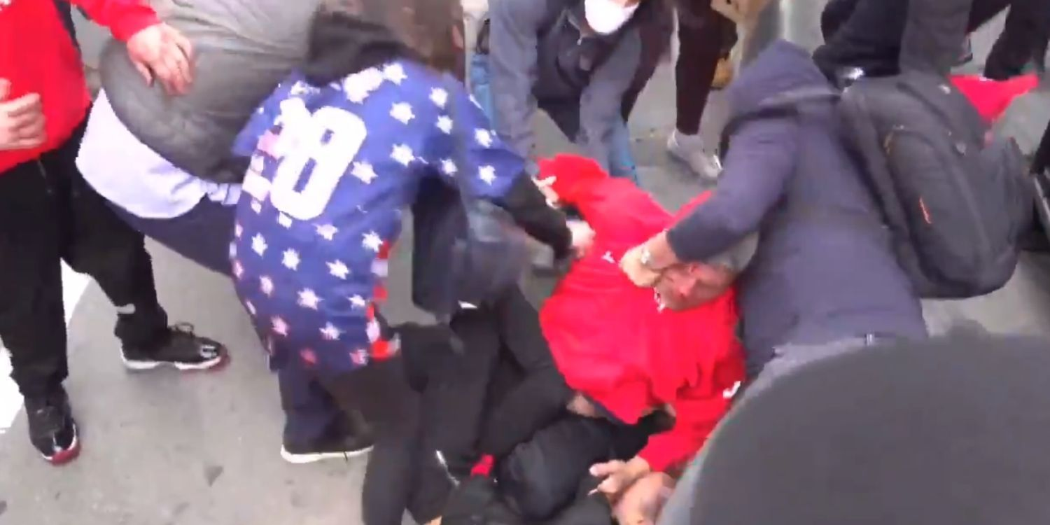 BREAKING: Antifa militants attack 'Jews for Trump' supporters in New York City