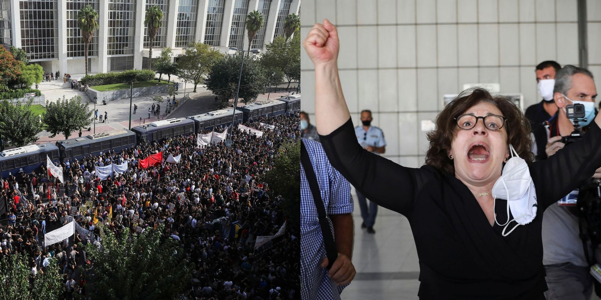 Thousands of Greeks celebrate in streets as court rules Golden Dawn a criminal organization