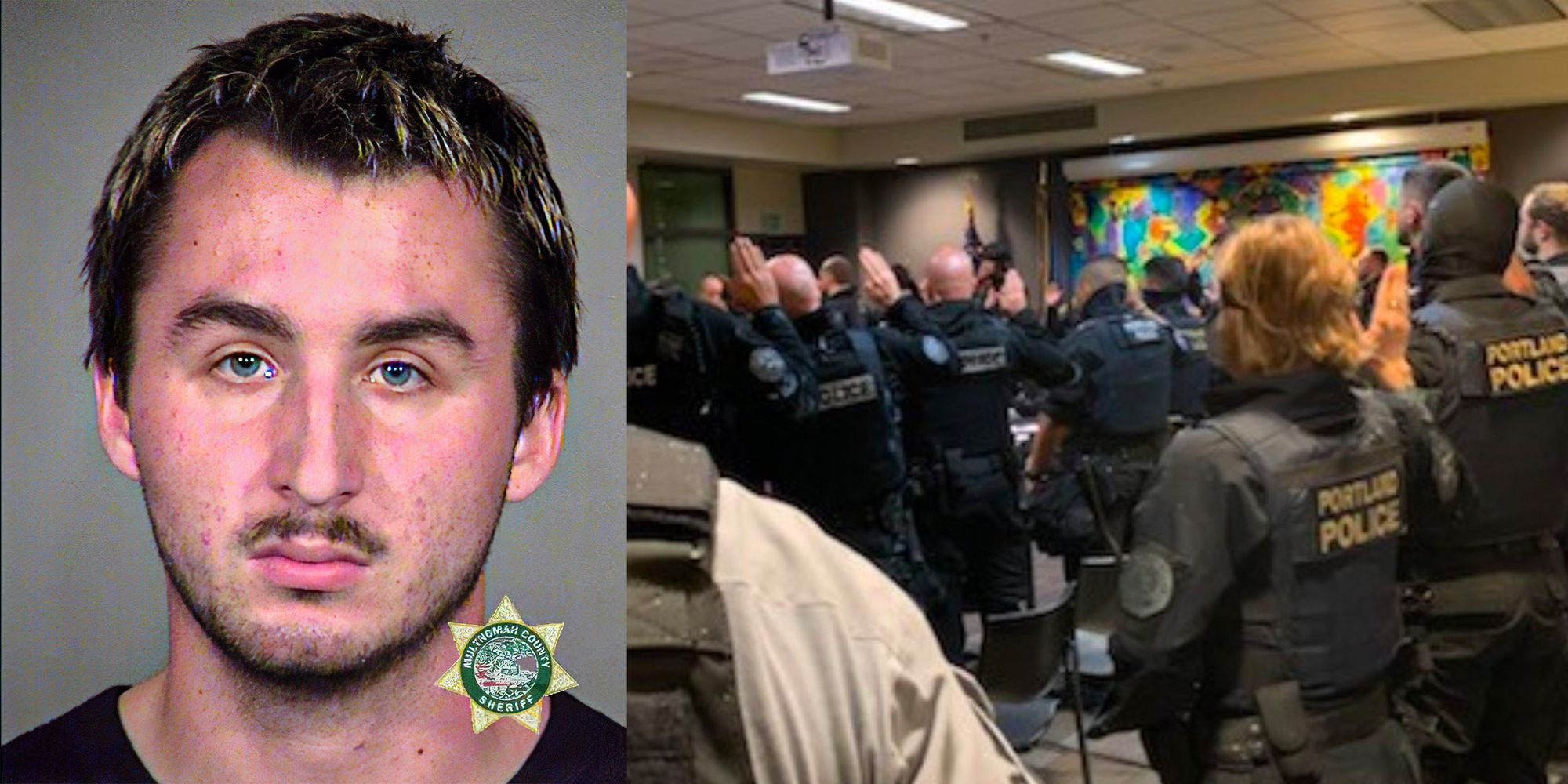 First suspect charged over assault of a deputized Portland Police officer