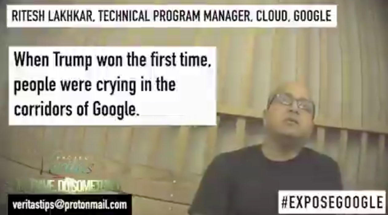 BREAKING: Project Veritas exposes Google manager admitting to election interference