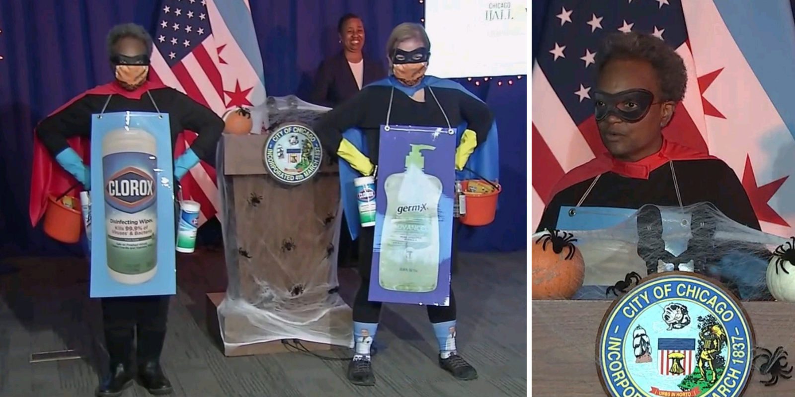 Chicago mayor dressed up as 'Rona Destroyer' as more residents are gunned down in the streets