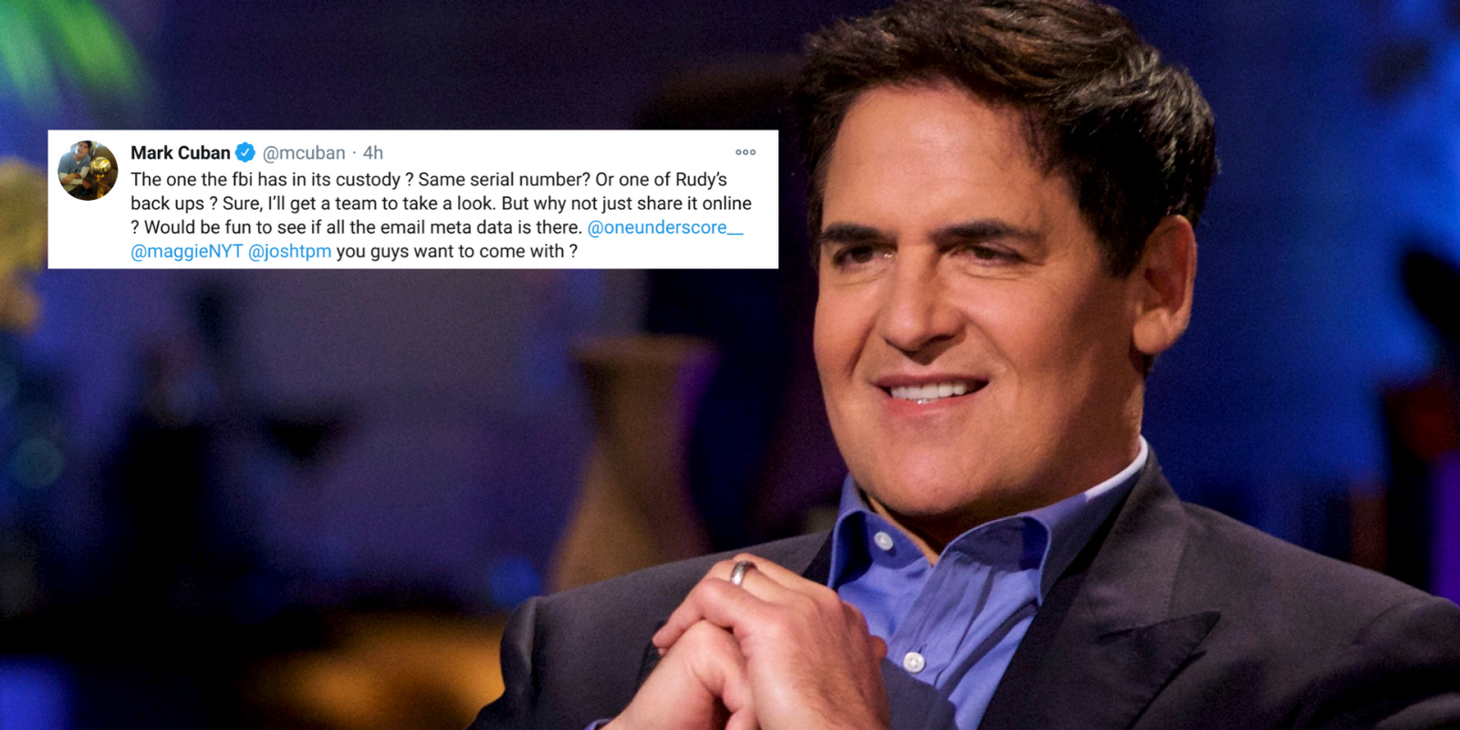 Mark Cuban accepts offer to view contents of Hunter Biden's laptop