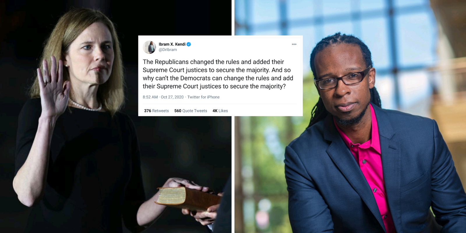 Prominent 'anti-racist' professor falsely claims Republicans changed rules to confirm Amy Coney Barrett