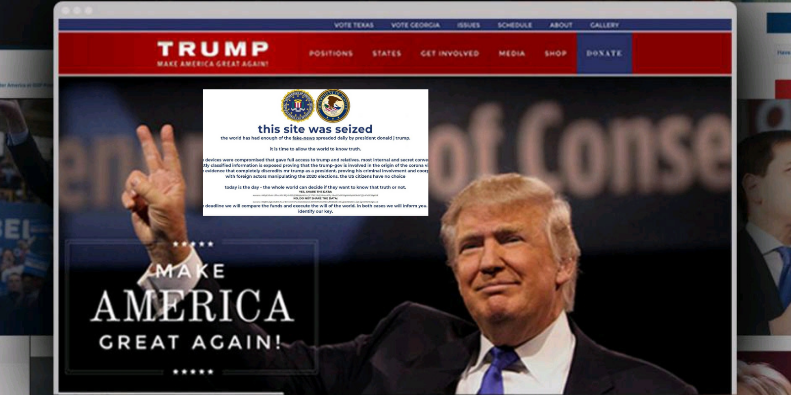 BREAKING: Hackers take down Donald Trump's official campaign website