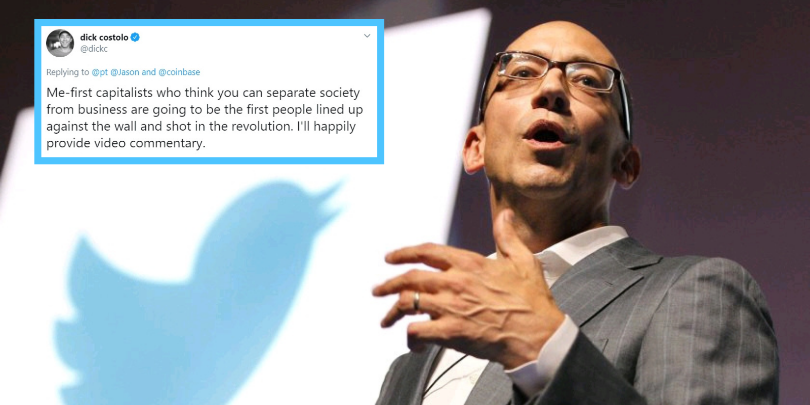 Former Twitter CEO fantasizes about executing 'capitalists'