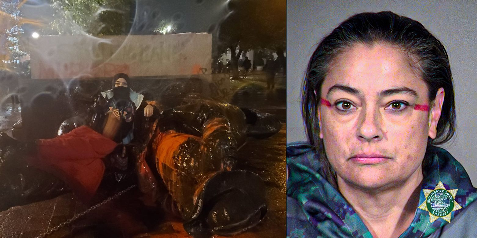 Seven-time Portland riot arrestee deletes videos of herself participating in toppling of statues