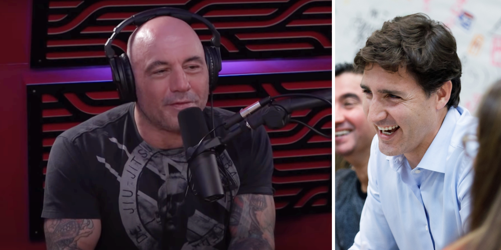 WATCH: Joe Rogan calls Justin Trudeau a 'p*ssy' who did 'blackface thirty or forty times'