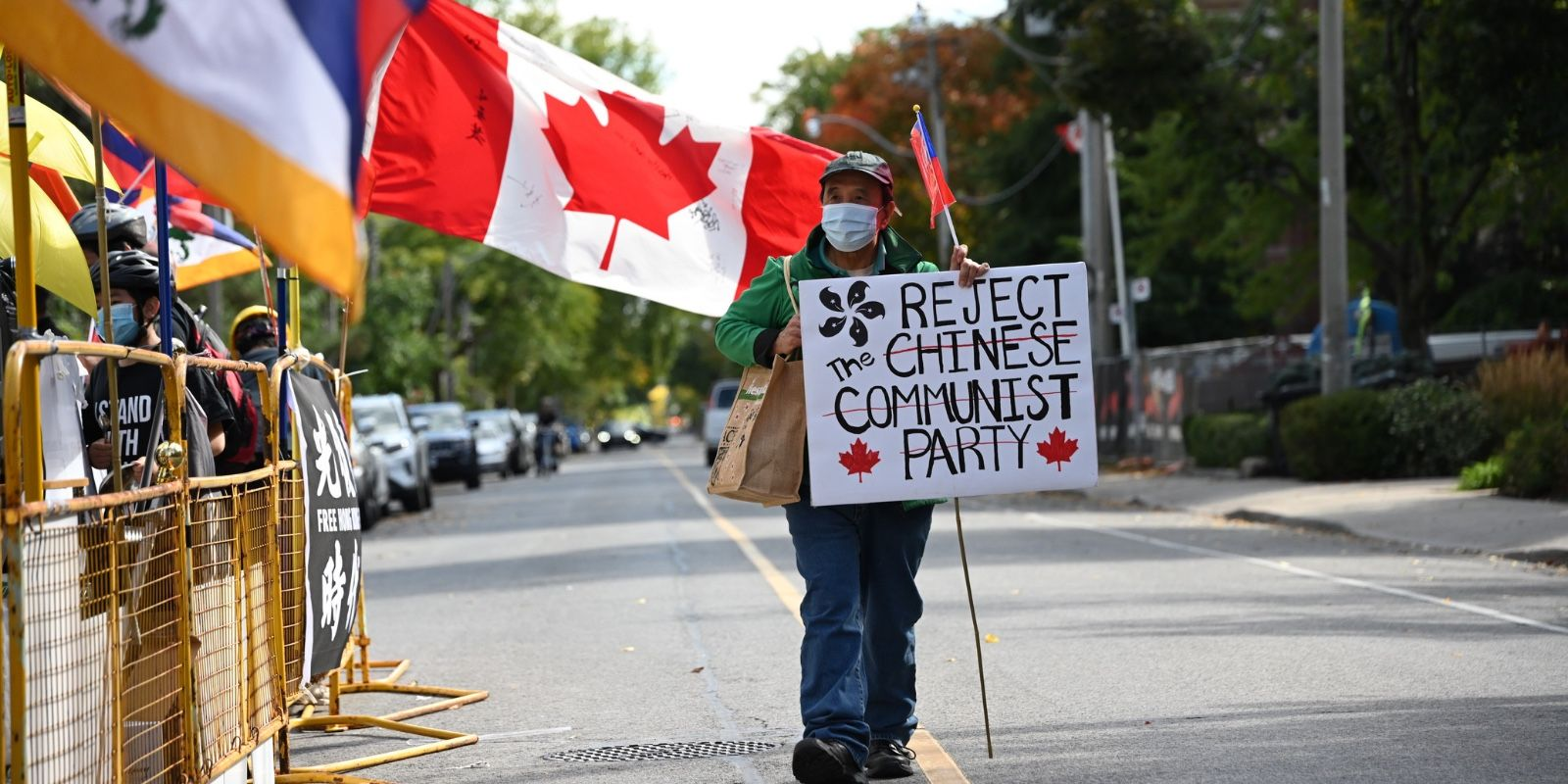 Protest staged in Toronto against China's human rights violations