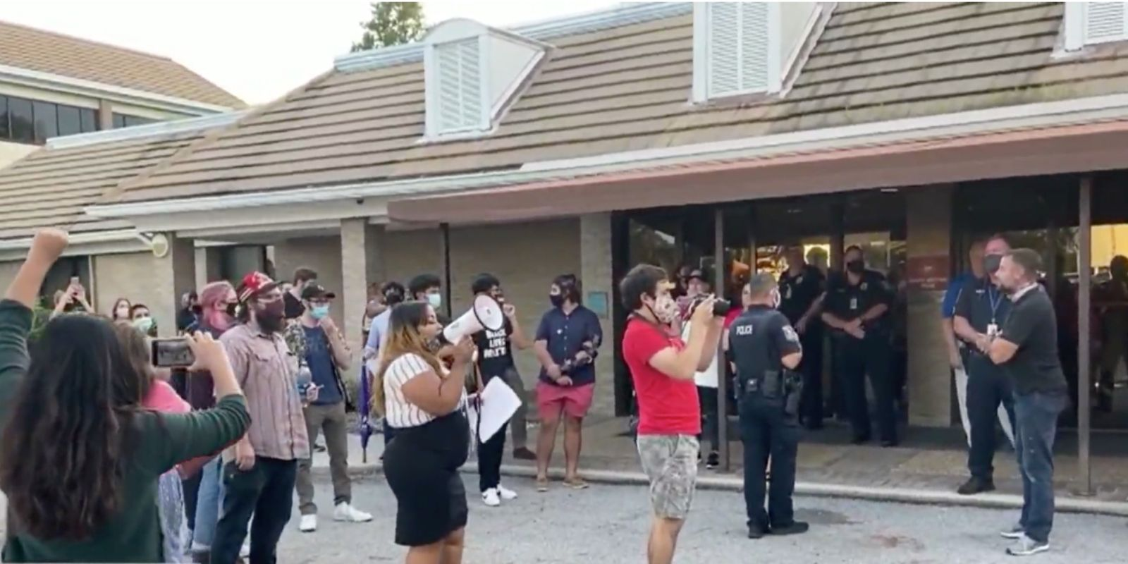 WATCH: Parents and BLM radicals face off in school parking lot over classroom indoctrination