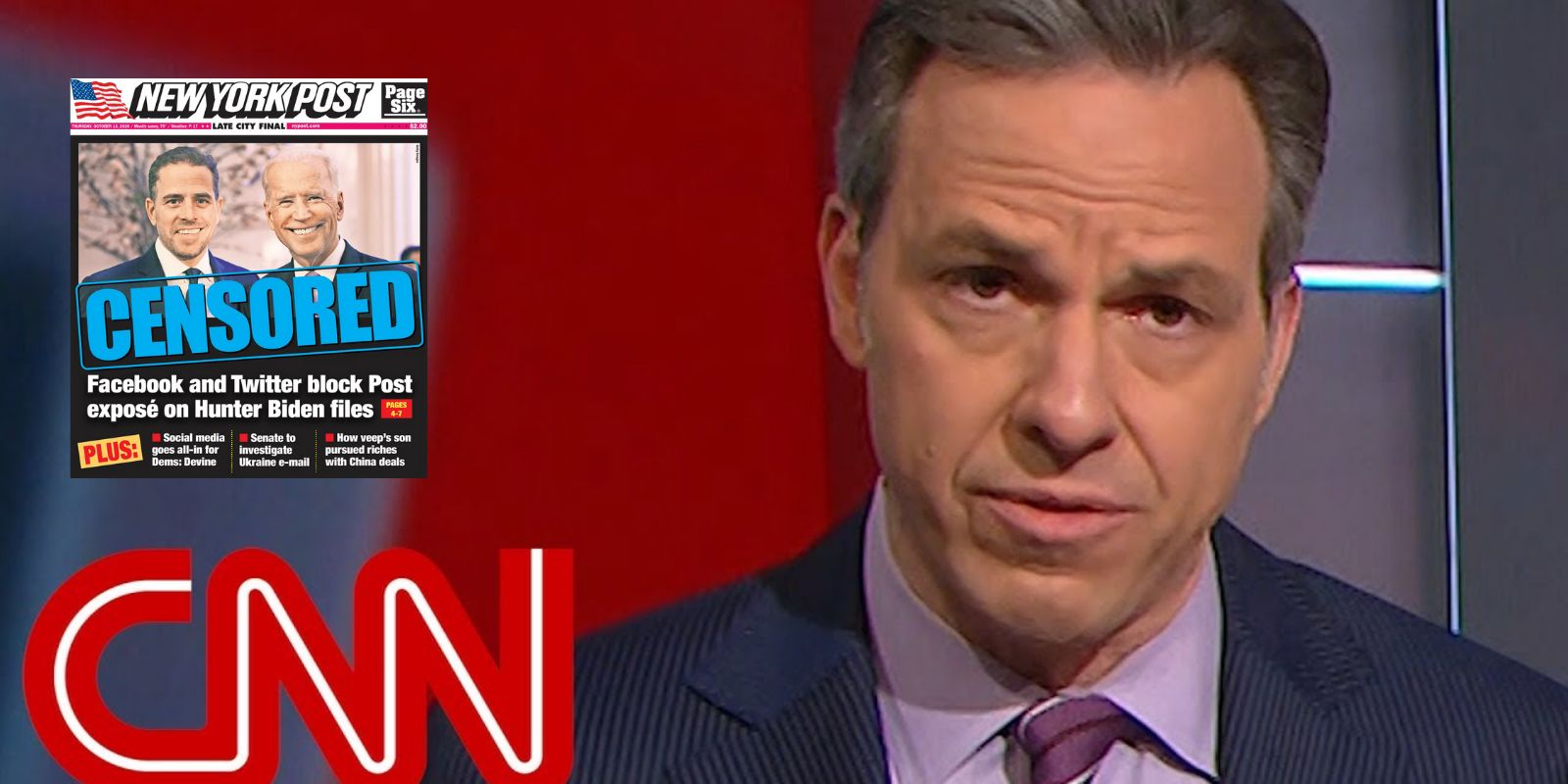 CNN's Jake Tapper blames New York Post for being censored by Twitter