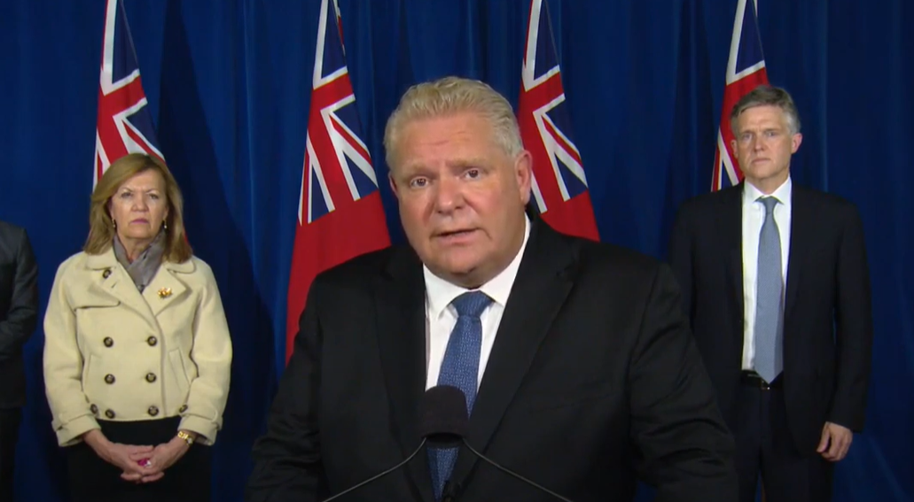 BREAKING: Ford announces strict lockdown measures in Peel and Toronto regions, non-essential businesses to close