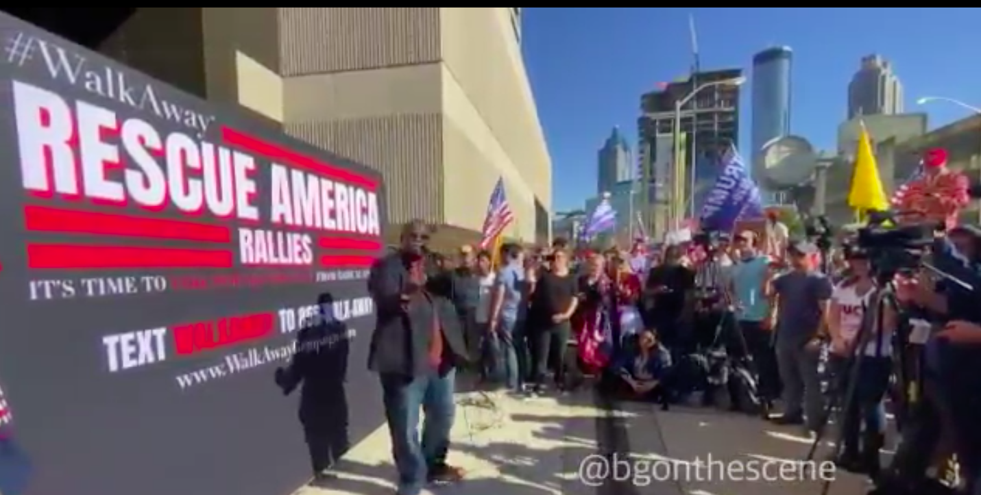 BREAKING: Trump supporters demonstrate outside CNN headquarters for #WalkAway rally