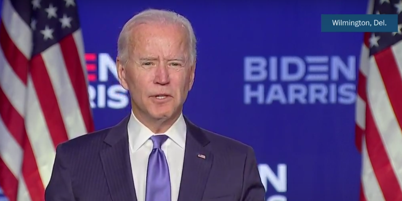 BREAKING: Joe Biden claims he has mandate to fight climate change, systemic racism in brief late-night speech