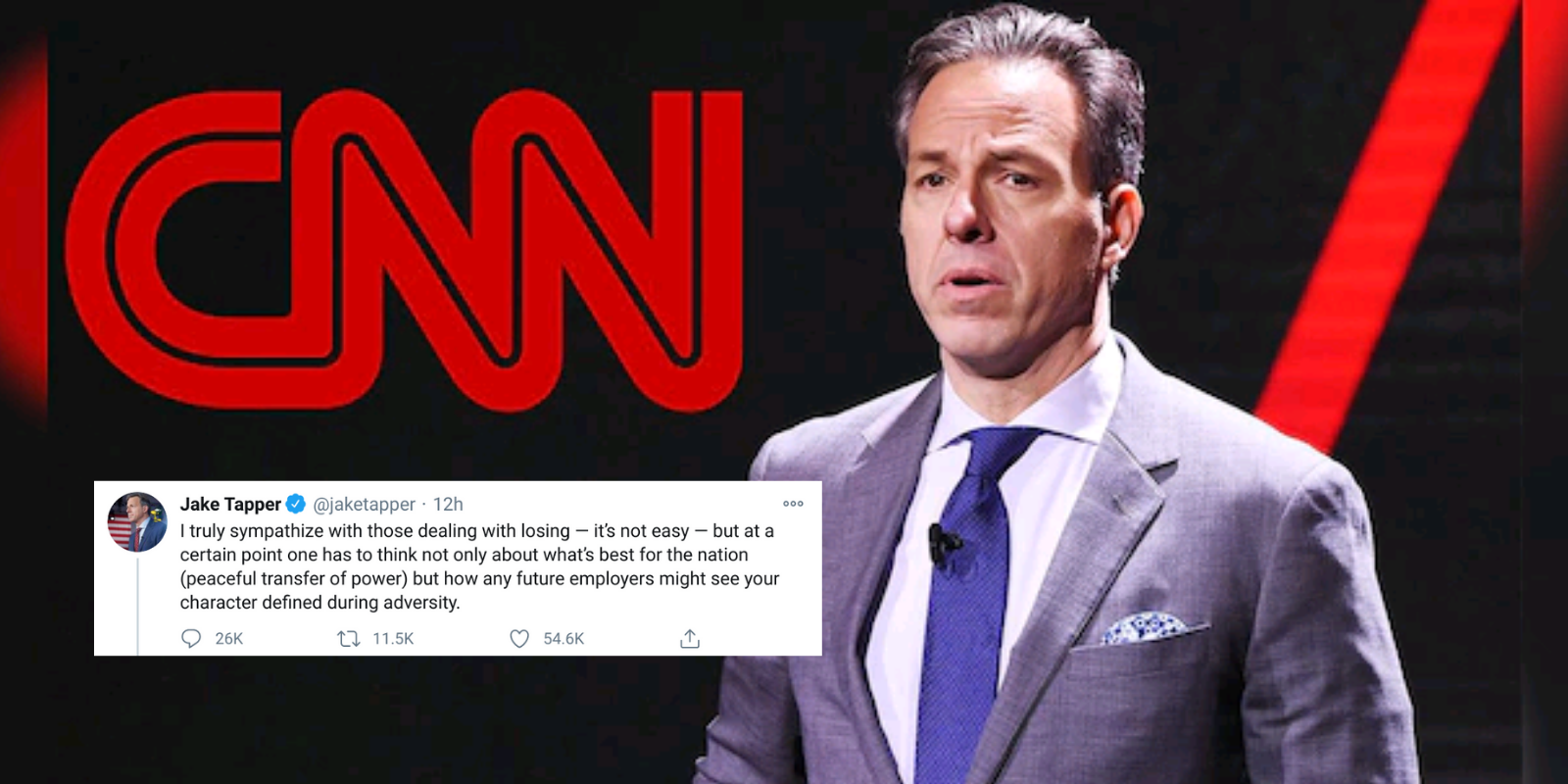 CNN's Jake Tapper warns of consequences for Trump supporters