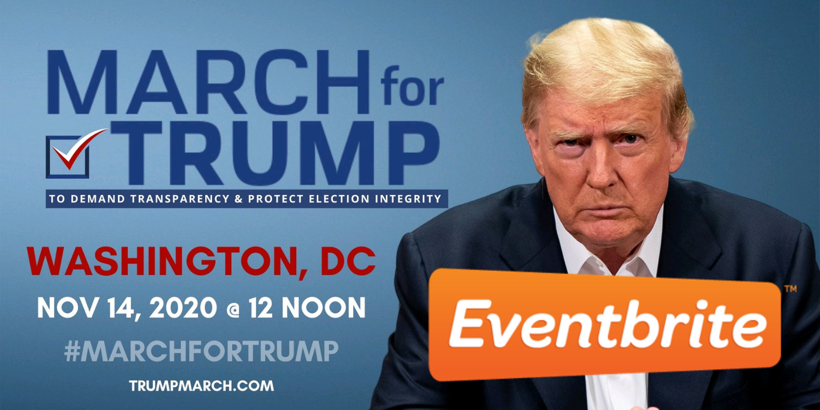 Eventbrite shuts down March for Trump page for 'potentially harmful misinformation'