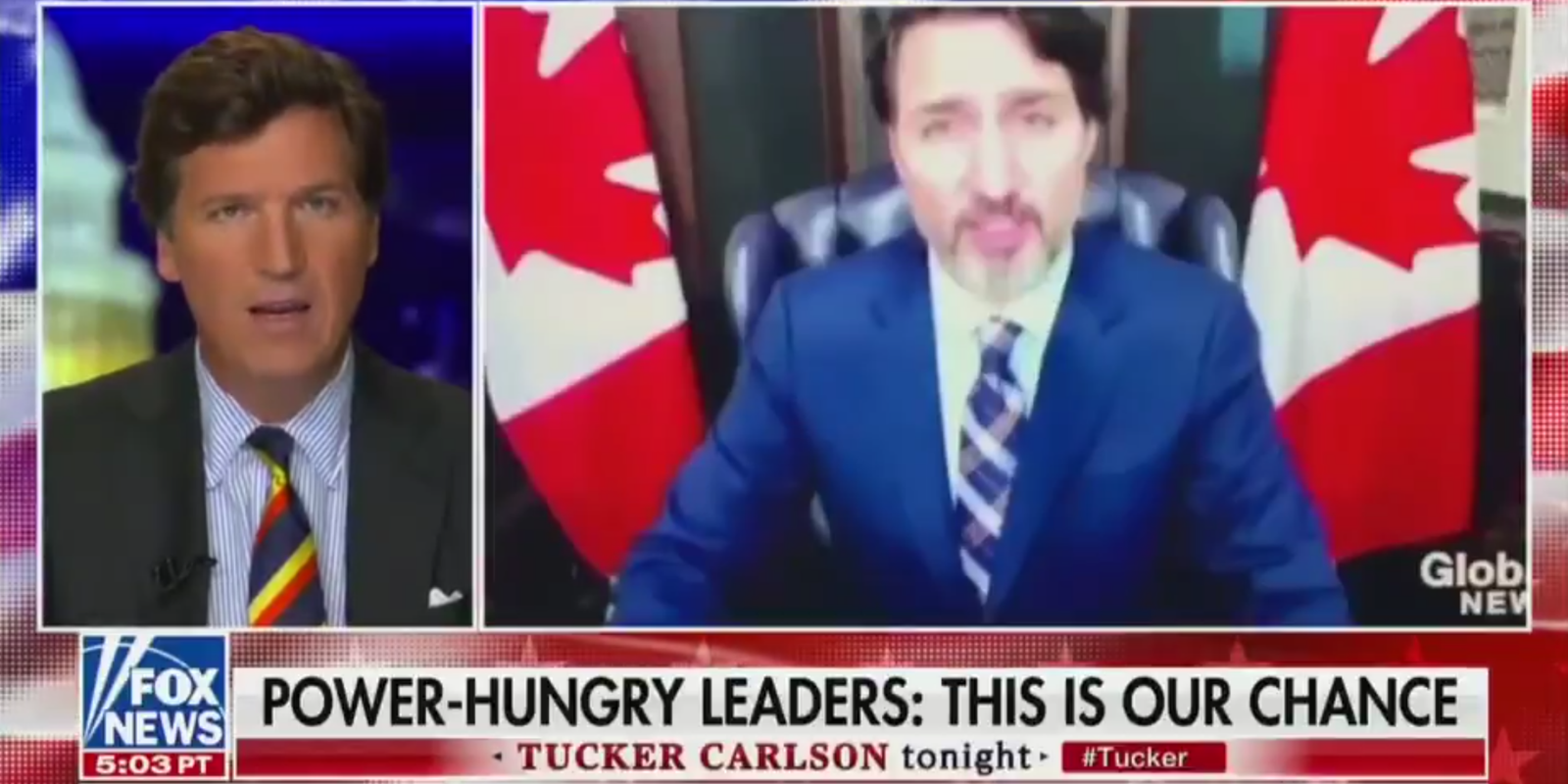 BREAKING: Tucker Carlson slams Justin Trudeau and the 'great reset'