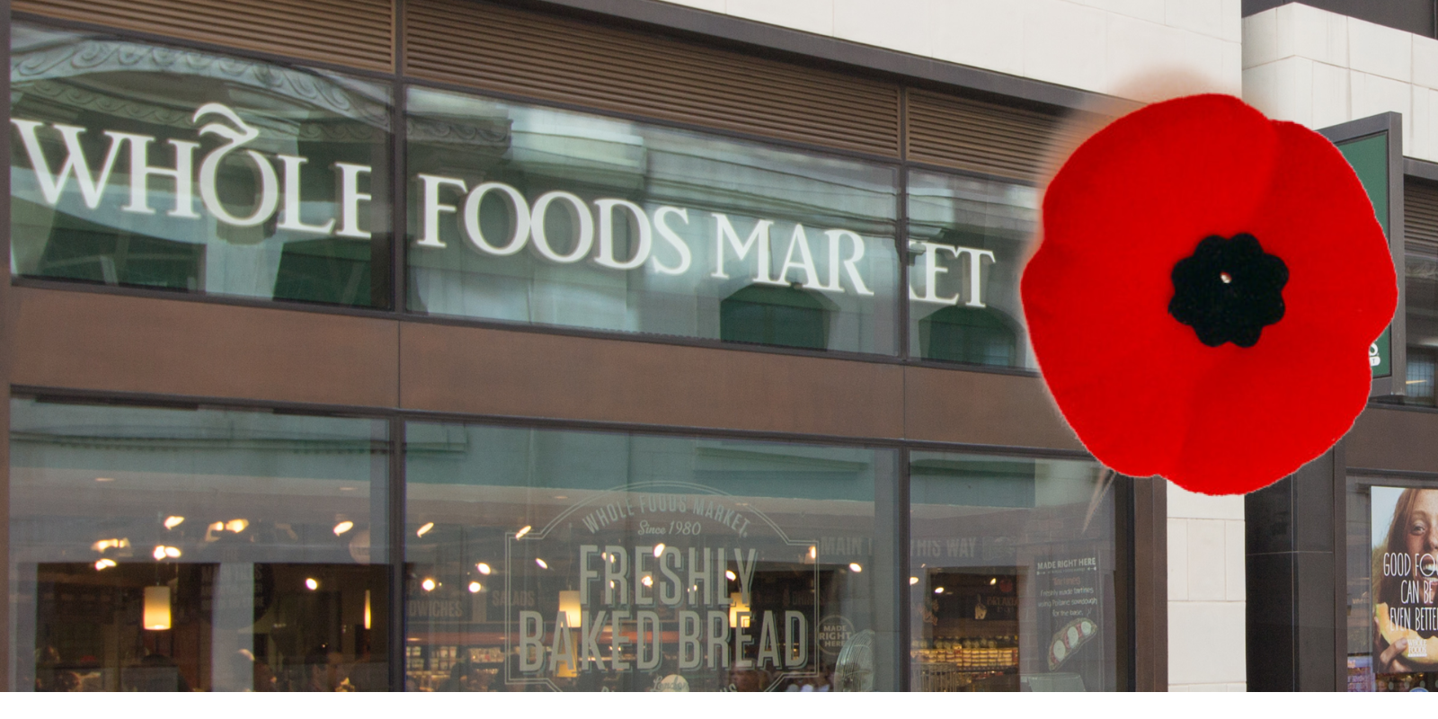 BREAKING: Whole Foods employees will now be able to wear poppies
