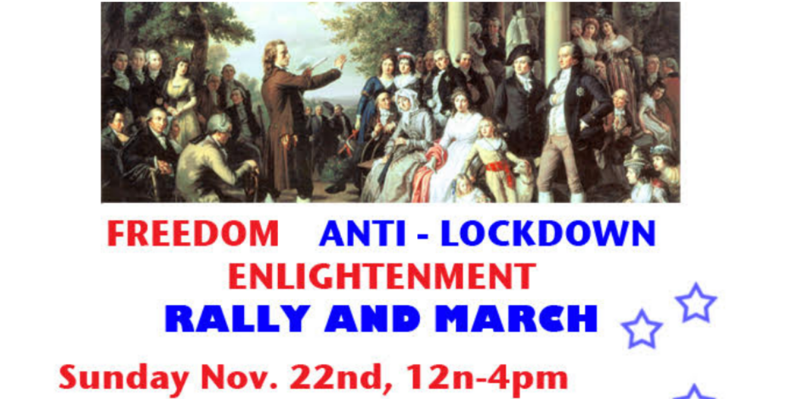 Anti-lockdown rally in New York demands that we question authority and take back our lives