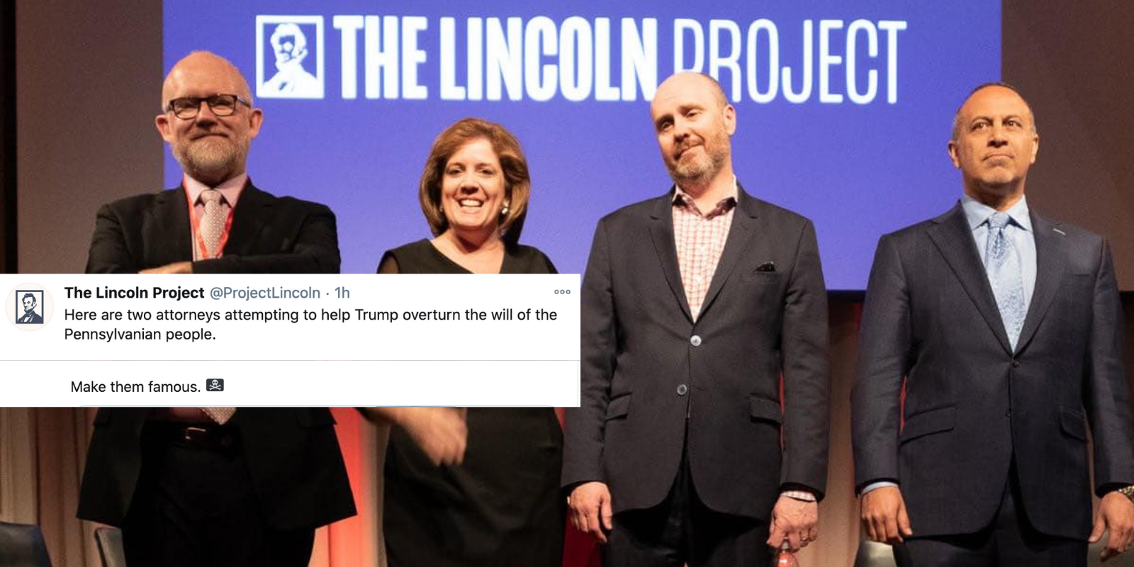 BREAKING: Lincoln Project doxxes two Trump lawyers, vows to dox their clients too