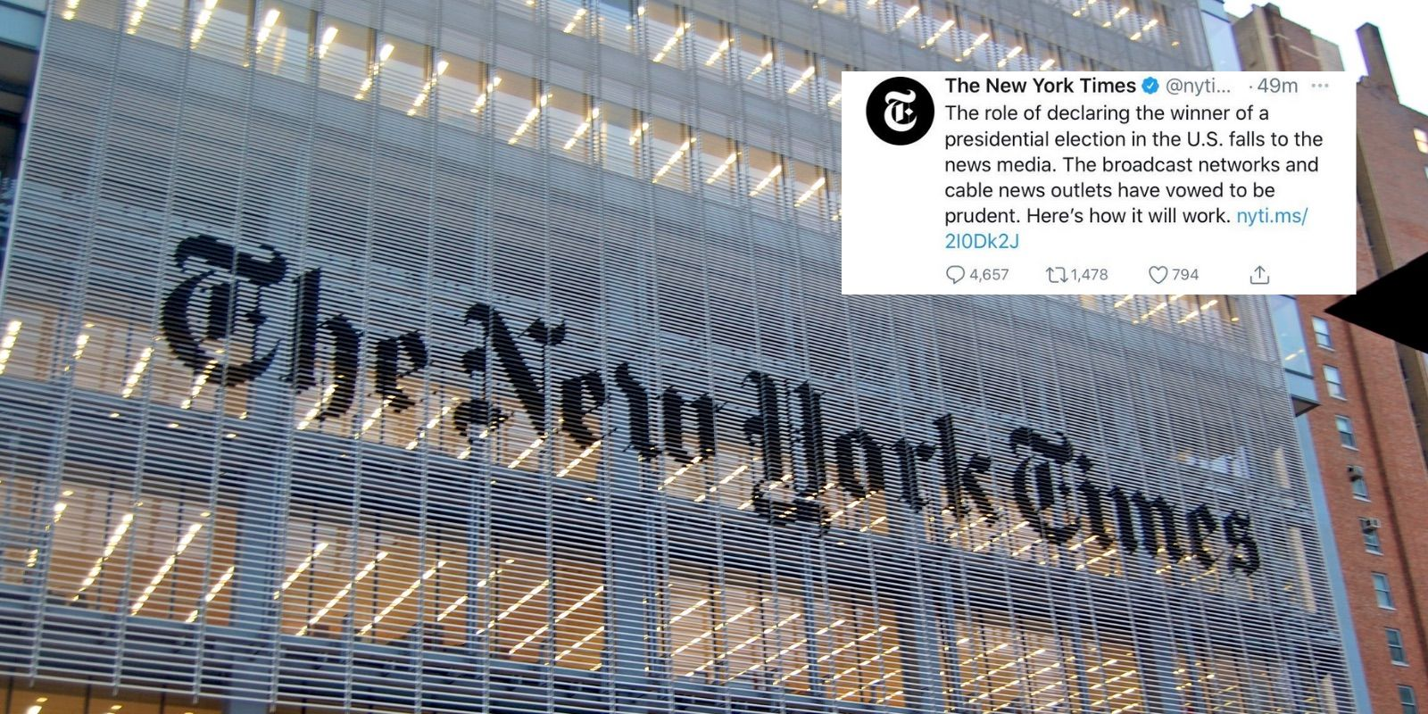 The New York Times spreads election disinformation about declaring the winner on election day