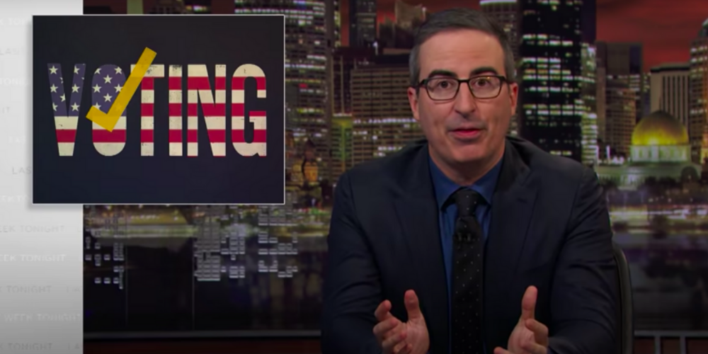 FLASHBACK: John Oliver SLAMS voting machines, agreeing with Trump just last year