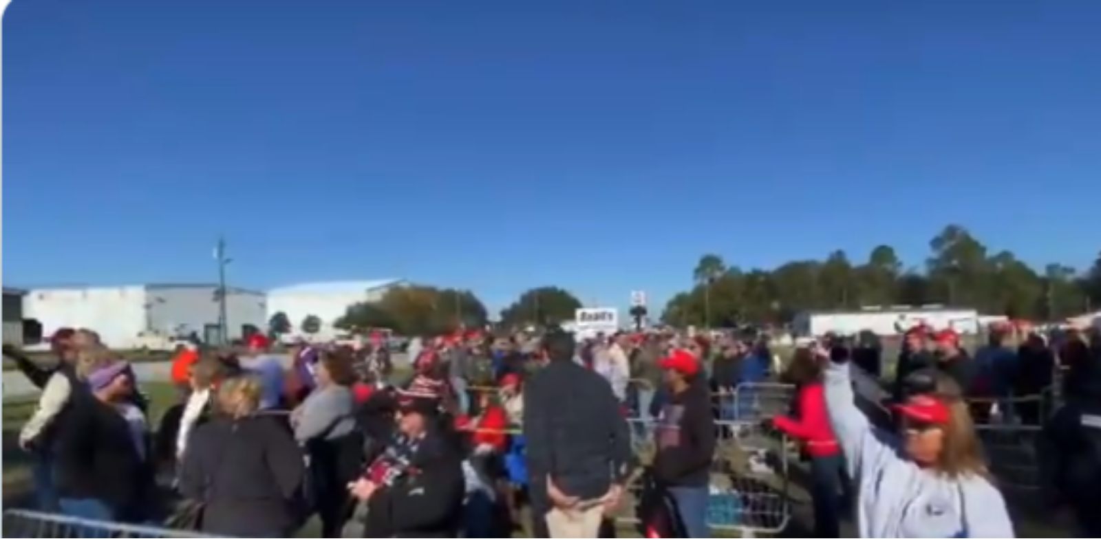 Trump supporters turn up in droves for rally in Valdosta GA