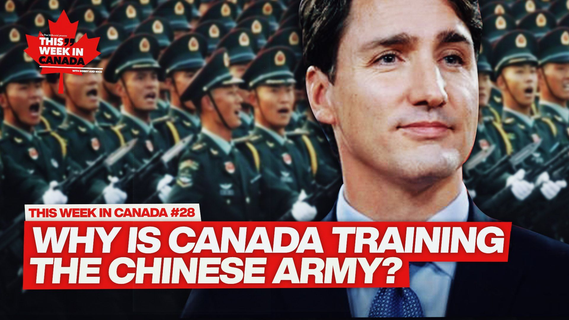 Why was the Chinese military invited to train in Canada?