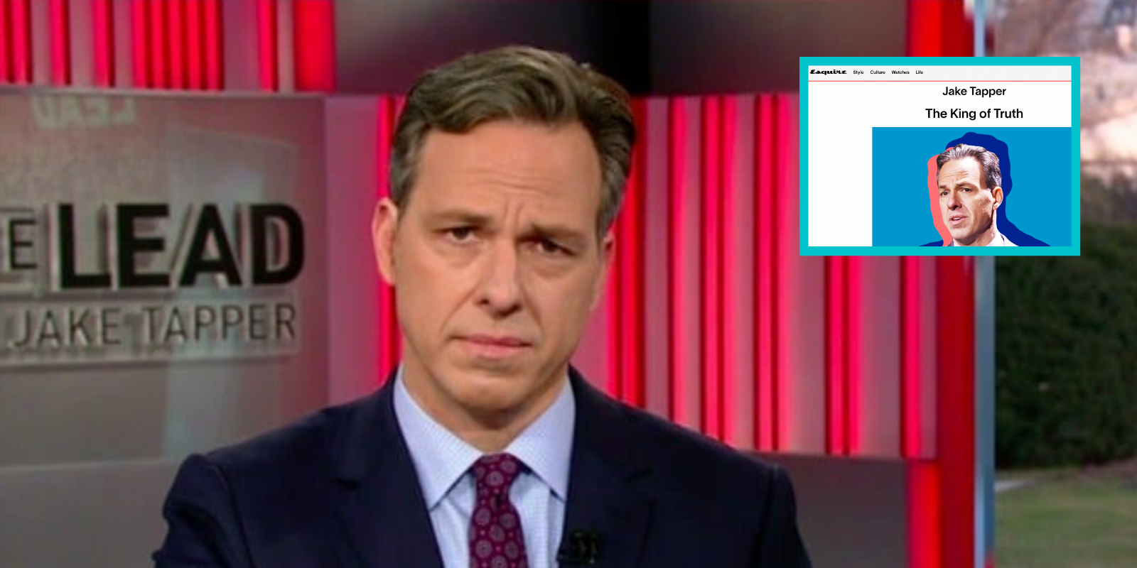 Esquire names Jake Tapper, a Russiagate conspiracy theorist who suppressed Hunter Biden bombshell, 'King of Truth'
