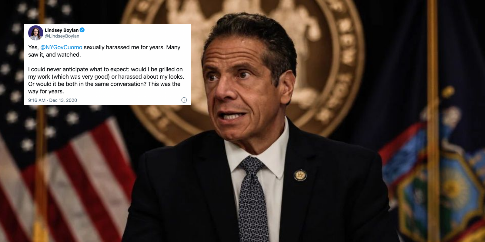 BREAKING: NY Governor Cuomo accused of sexual harassment by former government official