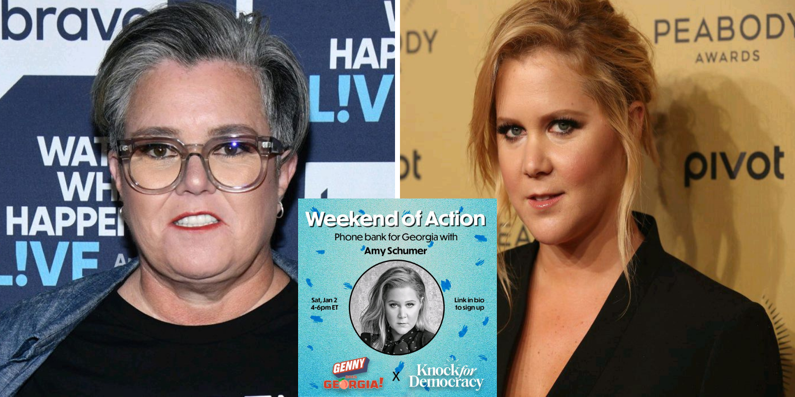 Amy Schumer and Rosie O'Donnell abandon Me Too principles to campaign for alleged abuser Raphael Warnock