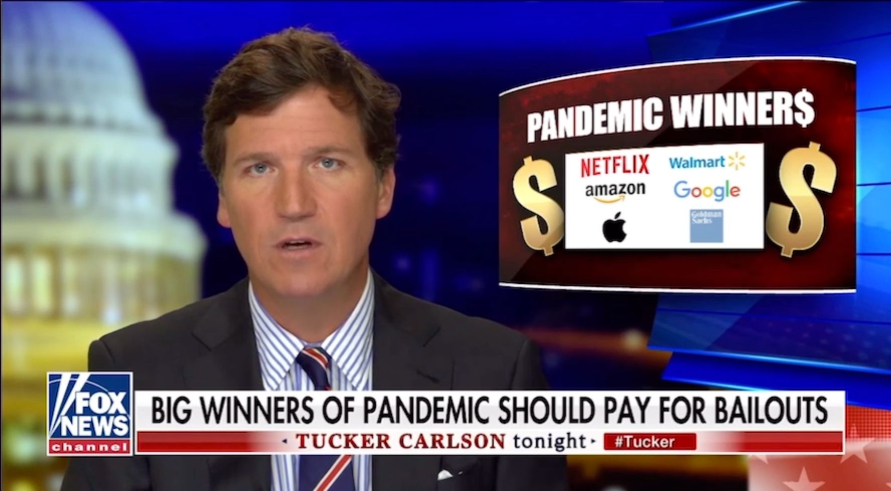 WATCH: Tucker Carlson blasts Democrats and corporate giants for bankrupting America's small businesses and the working class