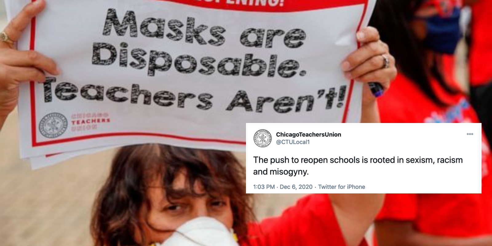 Chicago Teachers Union claims reopening schools is racist, sexist, and misogynist