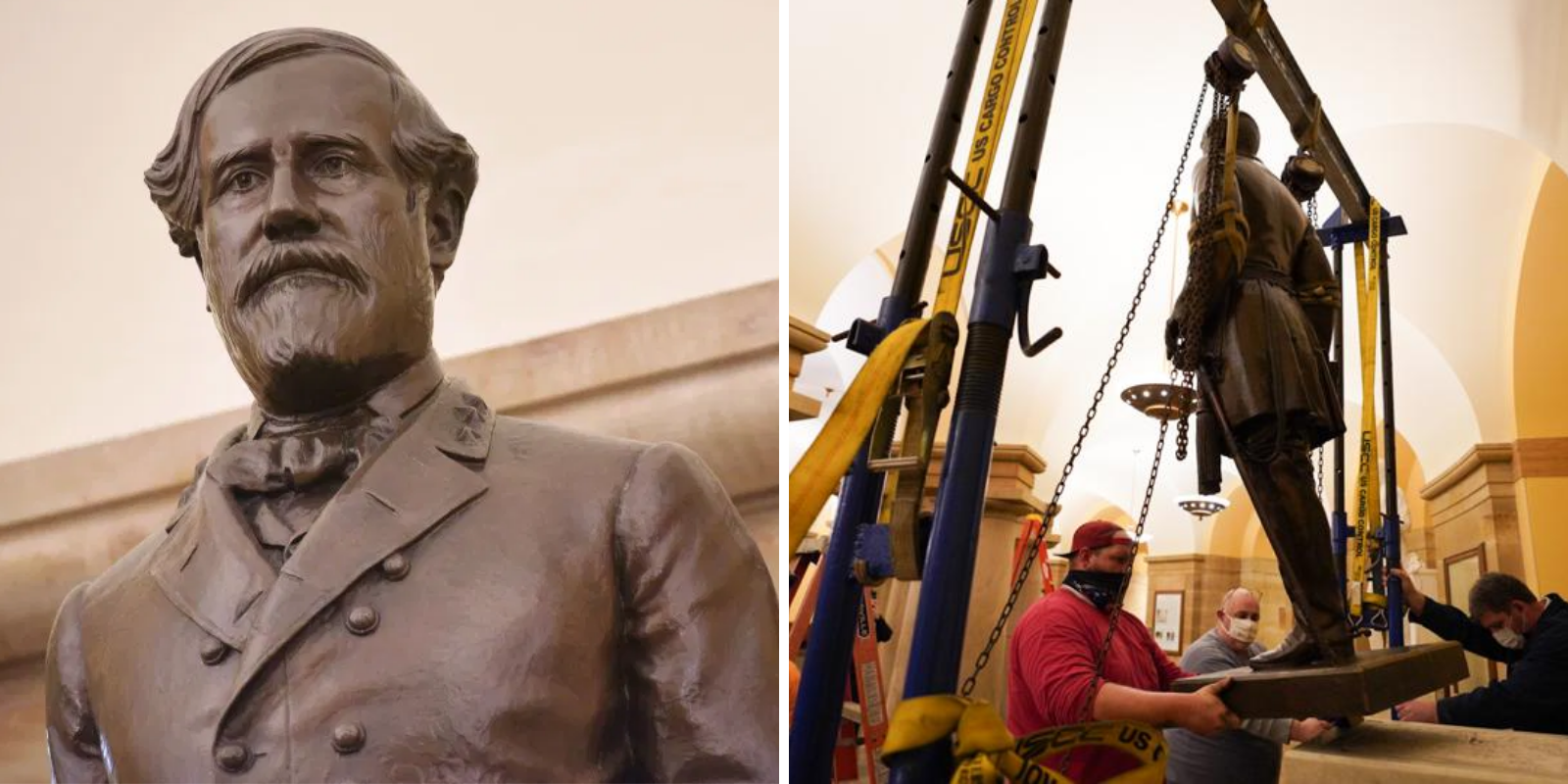 Statue of General Lee removed from US Capitol