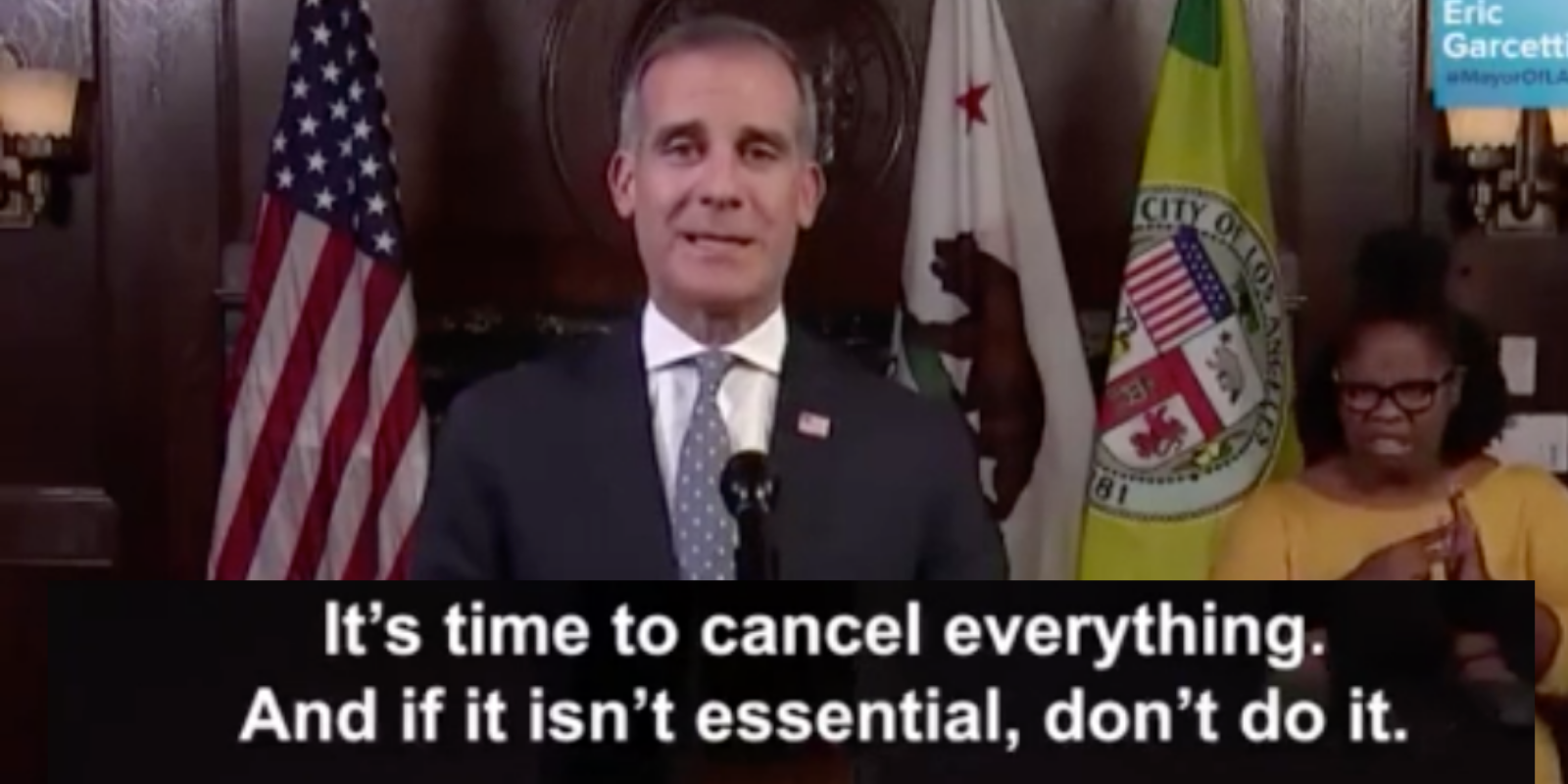 A comprehensive list of what you can and can't do in Garcetti's 'cancelled' LA