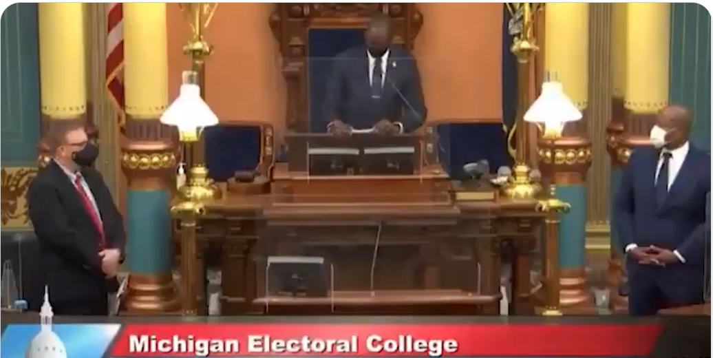 WATCH: 'Black National Anthem' plays before electoral college votes in Michigan