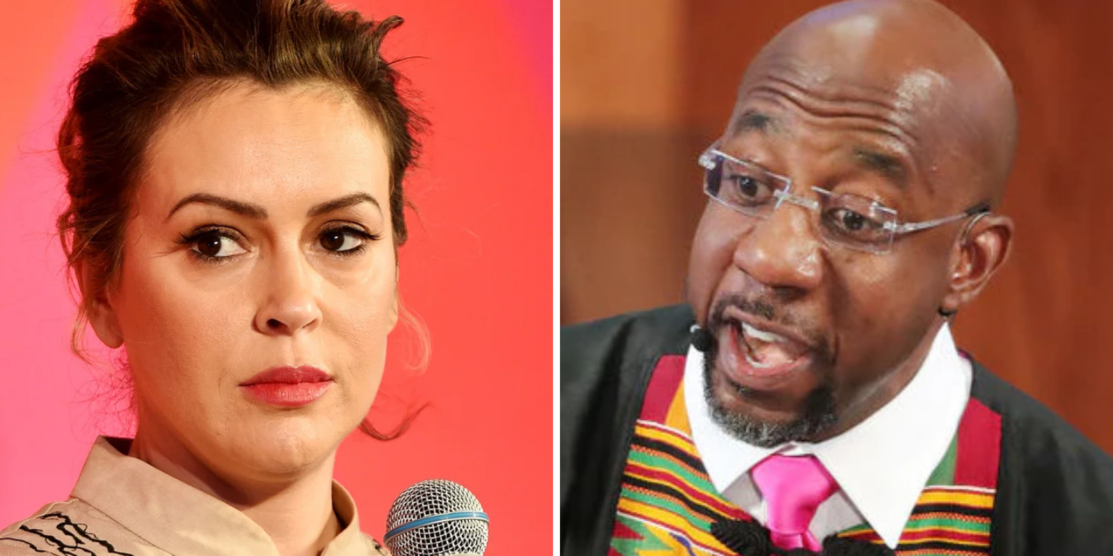 Alyssa Milano ditches Me Too movement to boost alleged abuser Raphael Warnock